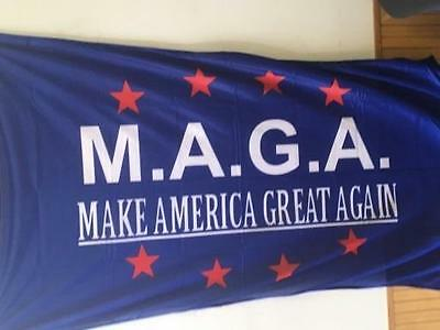 3ft x 5ft M.A.G.A. Flag TRUMP Brass Grommets USA Solar MAGA