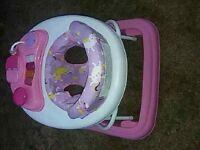Girls uniicorn baby walker