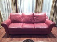 Divan / Sofa en Cuir / Leather 3 Places