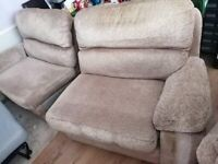 Large sofa with 2 arm chairs