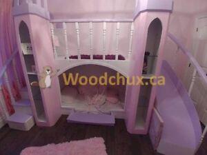 ♥‿♥.. PRINCESS VIOLET CASTLE Bunk Bed & BEDROOM SET .. ♥‿♥