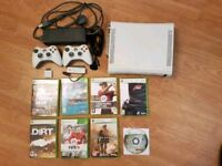 Xbox 360 bundle, 8 games, 2 controllers