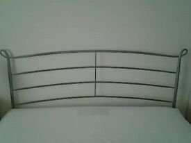 KING SIZE BRUSHED METAL HEADBOARD IMMACULATE CONDITION (Cost over £300 New)