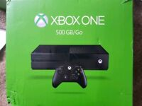 Xbox one 500gb console. Boxed. With 4 games.