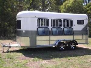 2017 3 Angle Load Horse Float Trailer -  White Horse 3A Grand. Condell Park Bankstown Area Preview