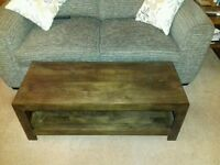 Solid Wood Coffee Table/TV Unit