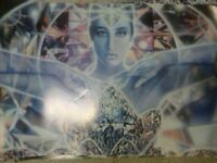 Rare Mystical Lisa Iris Hand-Signed Poster,Crystal Lady,1993,UK