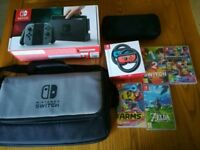 Nintendo Switch Console with 4 Games & Extras