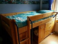 Fabulous cabin bed with chest of drawers bookcase and pullout desk with full instructions