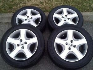 "OEM 15"" 2004 HONDA CIVIC SI RIMS WITH TIRES"