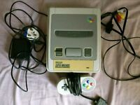 Super Nintendo (SNES) Console with Controller