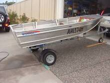 ALUMINIUM 340 TINNY CAR TOPPER, 15HP L/S MOTOR, FOLD UP TRAILER Fern Bay Port Stephens Area Preview