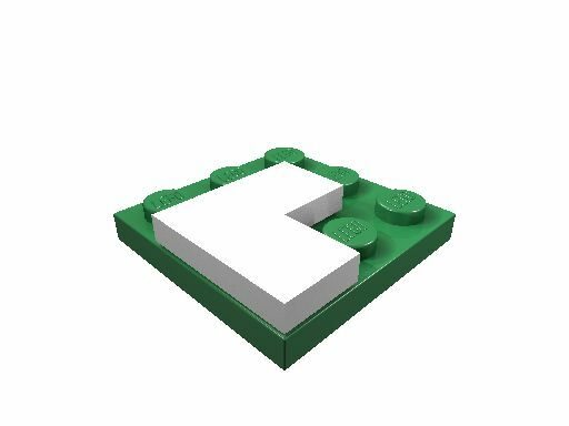 4 x [neu] LEGO Eckfliese 2 x 2 - weiß - 14719