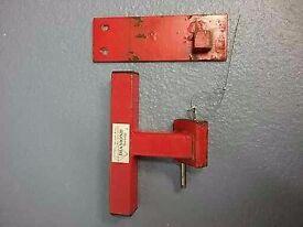 Heavy duty lock for garage up and over door