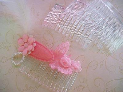 24 Clear Plastic Claw Hair Bow Clip Making Supplies/Craft/Custom Made/design A9