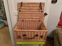 wicker picnic basket - wedding