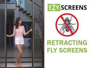 DIY Retractable Fly Screens for French Doors & Windows Aluminium Underwood Logan Area Preview