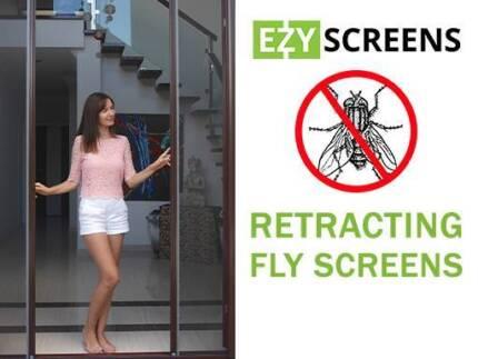 DIY Retractable Fly Screens for French Doors & Windows Aluminium