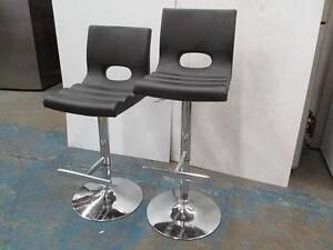 Black leather adjustable bar stool (2 for this price) Wollongong Wollongong Area Preview