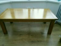 Morris oak coffee table