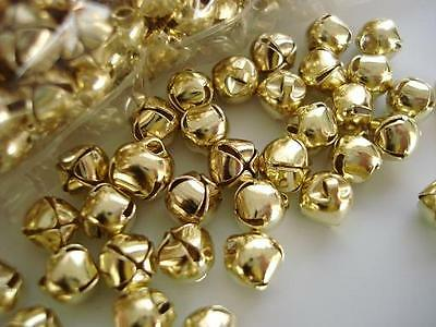 Jingle Bell 8mm Christmas/embellishment/ornament/bow M8-Gold (Jingle Bell Ornamenten)