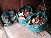 8 x hardwood logs net bags