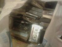 3 bags of various cassette tapes,, mixed lot.
