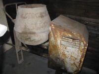 An old Lister concrete mixer