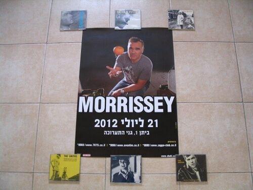 Morrissey Promo Poster TEL AVIV ISRAEL 21/07/2012 NEW MINT Smiths World Peace