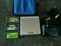 Nintendo game boy colour with 3 games and charger