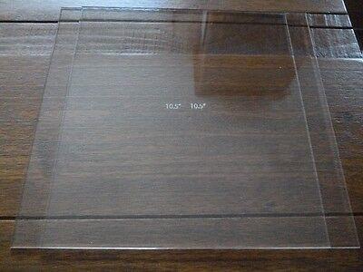 """10.50 Inch ENGRAVED Square Ganaching Plates Acrylic Cake Decorating 10.5"""""""