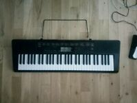 Casio Keyboard piano with stand & pedal