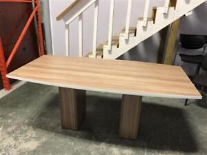 """36"""" x 72"""" Boardroom Table in Nutmeg with White Edge"""