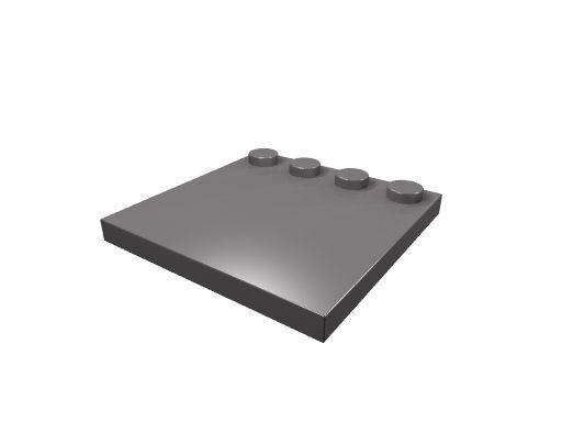 4 x [neu] LEGO Fliese 4 x 4 mit Randnoppen - dunkel-blaugrau - 6179