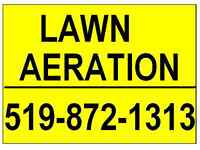 Lawn Aeration  CALL and BOOK for this WEEKEND...etc