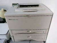 HP 5000n Laserjet A3 and A4 laser monochrome printer - fine working condition