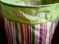 Laundry bundle basket hamper pegs