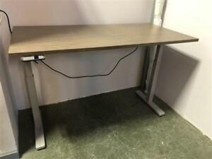 Ionic Height Adjustable Table in Absolute Acajou