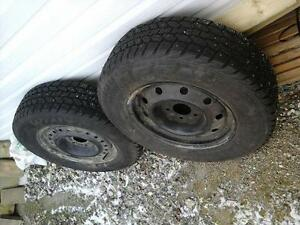 2 Studded Snow Tires with Rims 215/70R15 bought last winter