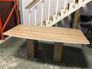 "36"" x 72"" Boardroom Table in Nutmeg with White Edge"