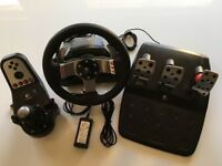 Logitech G27 racing wheel, pedals and gear shift - excellent condition, hardly used!