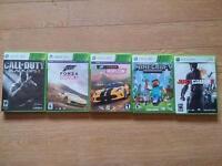 XBox 360 Minecraft, Forza Horizon 1&2, Black Ops 2, Just Cause 2