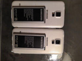2 X Samsung S5 used mobiles