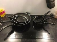 Full set of cookware (3 pots, 2 pans, 1 wok) brand new