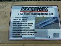 Set of brand new 6ft trailer loading ramps for quad ride on lawnmower etc