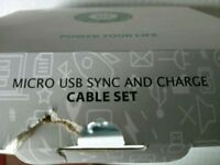 Charger set of 5 lengths cable