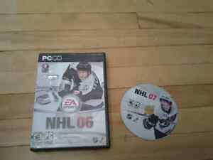 NHL 06 /07 PC GAMES 2 FOR 3$
