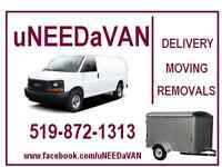 DELIVERY from $40.00  MINI-MOVES, Removals....519-872-1313