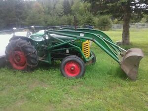 tracteur oliver a gaz avec bucket