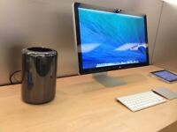 Twelve Core 2.7Ghz Apple Mac Pro 64Gb Ram 512GB SSD Logic Pro X Adobe LightRoom FCPX